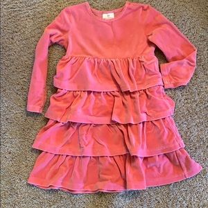 Hanna Andersson Girls Velour Twirl Dress size 120